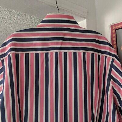 Eton Mens Contemporary Striped Shirt Size 17.5 EU 44