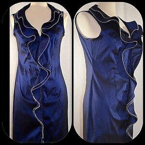Joseph Ribkoff midnight blue zipper dress