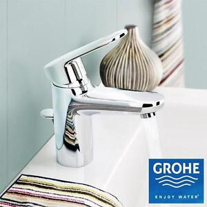 NEW GROHE EUROPLUS CHROME FAUCET STARLIGHT CHROME FINISH - BATH BATHROOM SINK FAUCETS FIXTURES FIXTURE DRAIN HOME