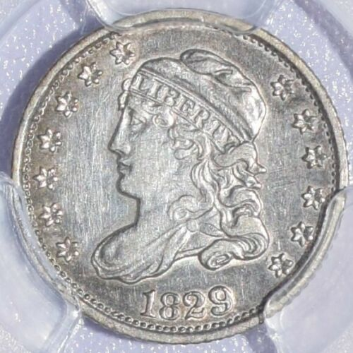 1829 Capped Bust Half Dime - PCGS AU Details - Very Nice!