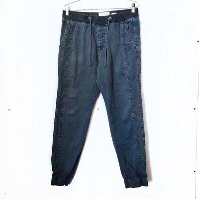 Abercrombie & Fitch Navy Blue Jogger Pants Elastic Waist Drawstring Men Sz Med