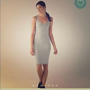 RARE! Lululemon Sz 4 Striped Dress with Cut-out Back Detail