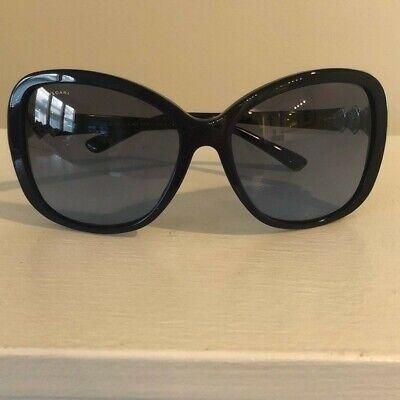 100% Authentic Bvlgari Sunglasses Black Cateye Rhinestone NEW