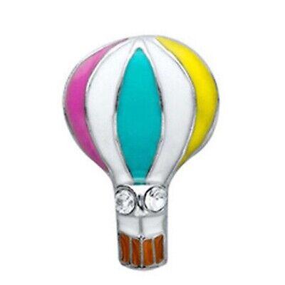 Authentic Origami Owl HOT AIR BALLOON Floating TRAVEL Enamel Charm BRAND NEW Enamel Hot Air Balloon