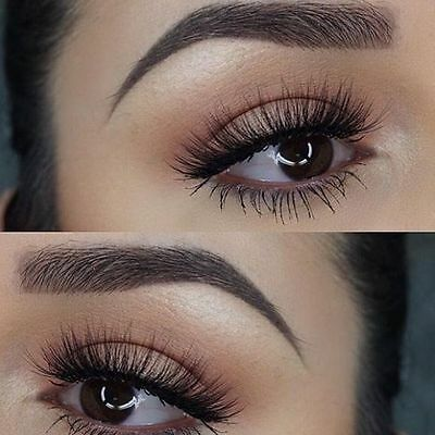 f5ad4038c34 Details about 3/15 Pairs Huda Luxe Soft Quality Natural Demi Wispy False  Eyelashes US-SELLER
