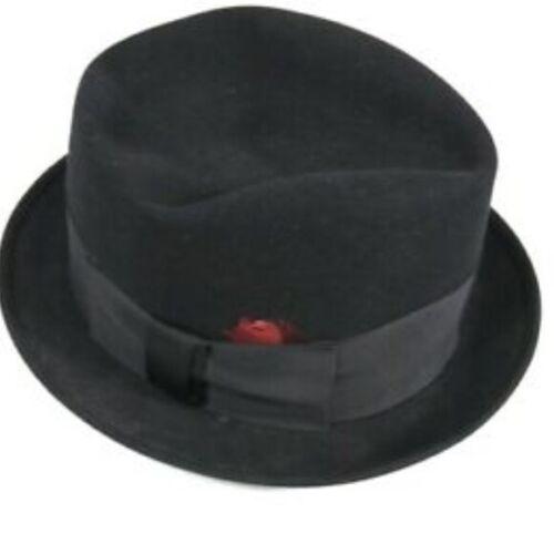 VTG Richman Brothers black fedora hat mens  7 1/8