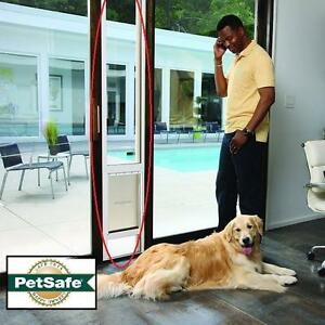 "NEW PETSAFE PATIO PANEL PET DOOR SMALL - 776 13/16"" TO 81"" TEMPERED GLASS HOME IMPROVEMENT PET DOG DOGS DOORS 109595191"