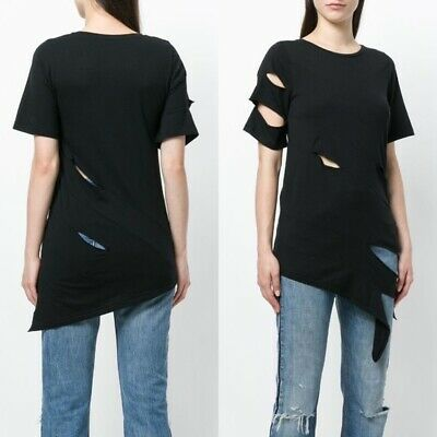 Each X Other Black Ripped Effect T-shirt (Size: S)