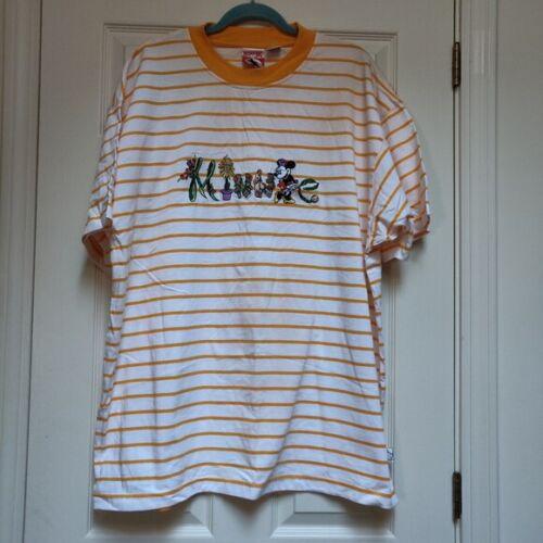 Vintage Mickey, Inc Orange Striped Minnie Mouse T-shirt Size XXL WDW Exclusive