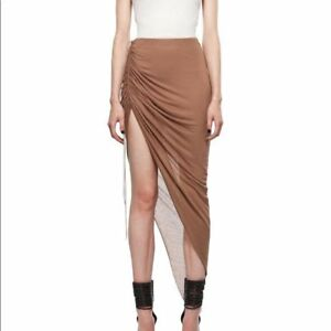 f55f7a0113 Helmut Lang Ruched Asymmetrical Skirt