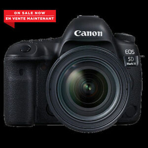Canon EOS 5D Mark IV DSLR Camera avec lentille 24-105 f/4l IS bo