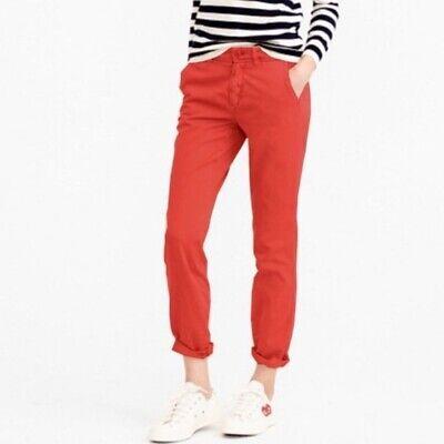 J Crew Sunday Slim Chino Pants Red Size 0