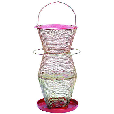 No/No Super 3 Tier Bird Feeder, Red  Brass, RB300335 Holds 8.5 Lb+ Seed