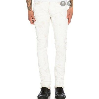 """Mr. Completely White All Over Wax Jeans Pants Size 40 (W 42"""" x L 33"""") Revolve"""
