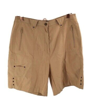 Jamie Sadock Women's Bermuda Golf Shorts Size 14 Pockets Camel Color Flat Front