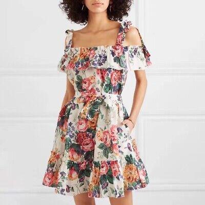 NWT Zimmermann Women's Allia Tie Linen Short Dress with pocket - Size 1
