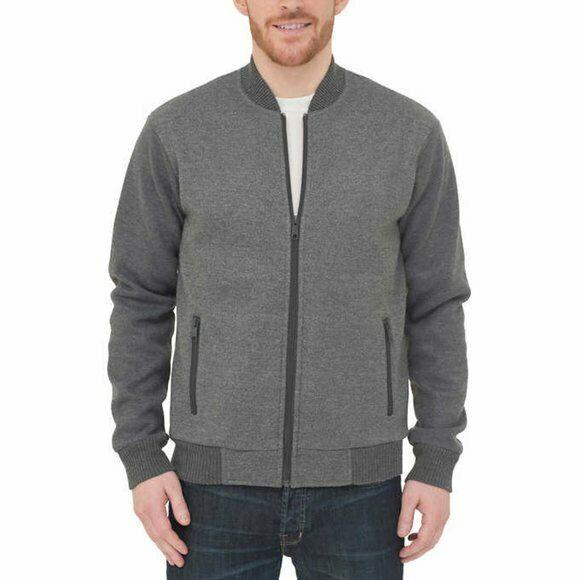 Boston Traders Men's Gray Bomber Jacket