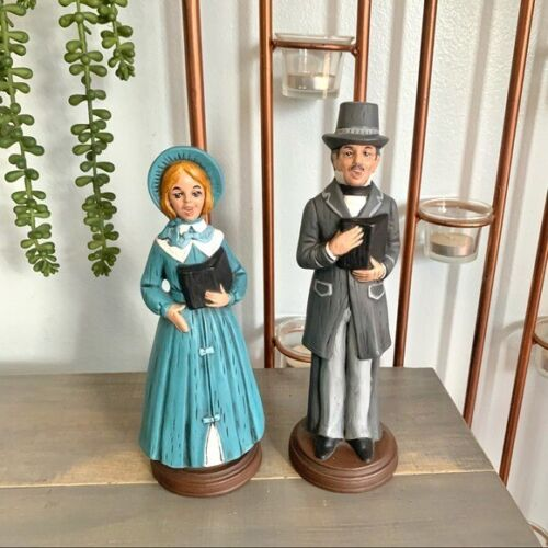 Vintage 1981 Christmas Carolers Figurines Dickens Holiday Decor