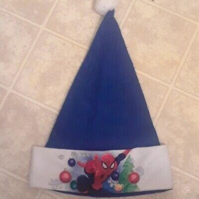 Marvel Spiderman Blue Santa Xmas Hat NWO T/Marvel Crazy 8 cards/Marvel cup/book](Crazy Santa Hats)