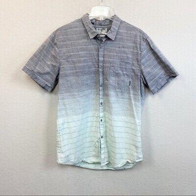 Billabong Striped Ombré Short Sleeve Button Up Shirt Mens size Large