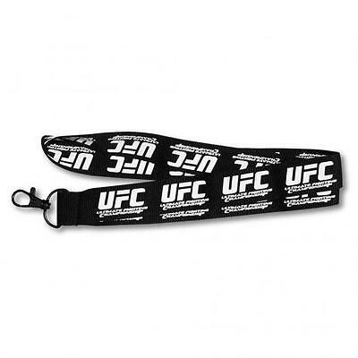 "UFC Officially Licensed 1"" Black Lanyard - UFC Logo - New/Sealed in Clamshell"