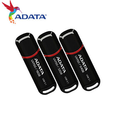 ADATA 16GB / 32GB / 64GB USB 3.1 Gen 1 USB Flash Pen Drive UV150 [BLACK] Adata 16 Gb Usb