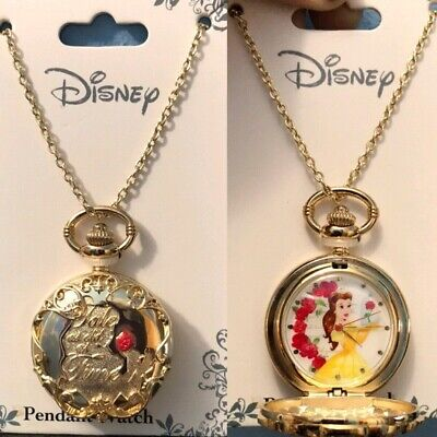 2017 Disney Beauty&The Beast Tale As Old As Time Pendant Pocket Watch With Chain