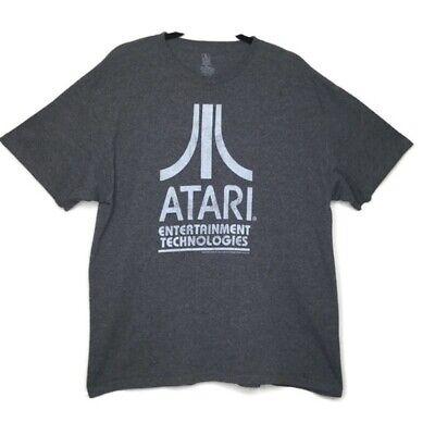 ATARI Mens Short Sleeve Gray Gaming T Shirt Size Extra Large XL