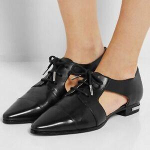 Michael Kors Women's Black Graham Cutout Leather Oxford