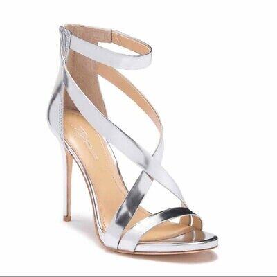 Imagine Vince Camuto Devin Ankle Strap Dress Sandal Size 7.5M Silver