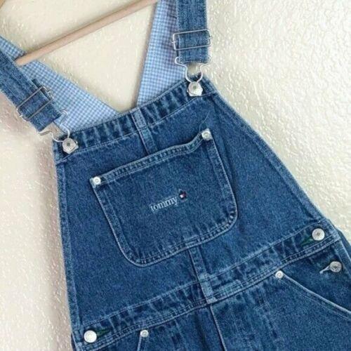 Tommy Hilfiger Youth 8 10 Medium Cotton Adjustable Jean Bib One Piece Overalls