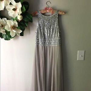 JS Collections silver/grey beaded gown