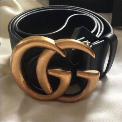 Authentic Gucci Double GG Buckle Belt Size 90cm 30-32 Waist