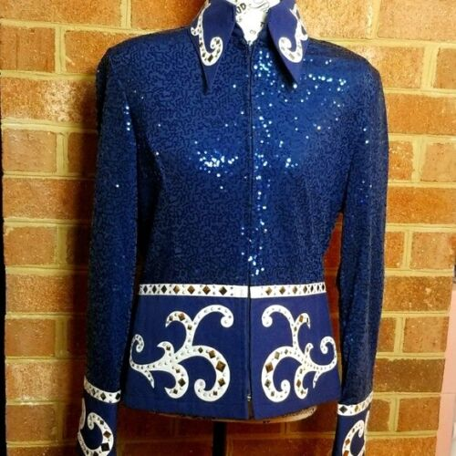 Hobby Horse Carousel Collection Size Large Equestrian Horse Western Show Shirt