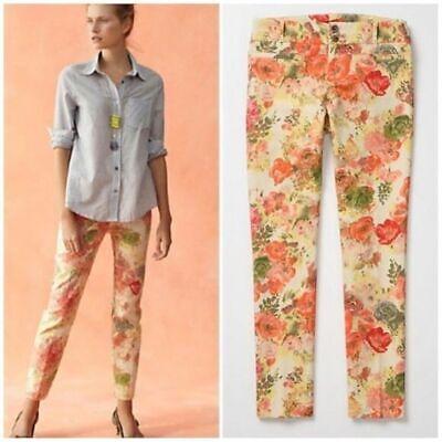Anthropologie Cartonnier Floral Ankle Length Multicolor Pants sz 8