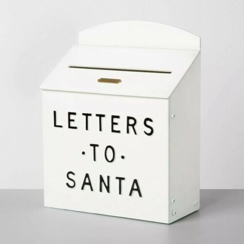 Hearth & Hand by Magnolia Letters to Santa Mailbox White Christmas Decor