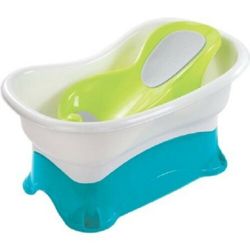 SUMMER INFANT COMFORT HEIGHT BATH TUB *DISTRESSED PKG
