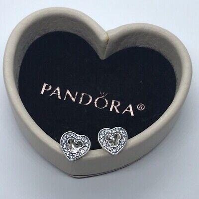Genuine Pandora Silver Disney Mickey Mouse Silhouette Stud CZ Earrings 290579CZ Genuine Disney Mickey Mouse