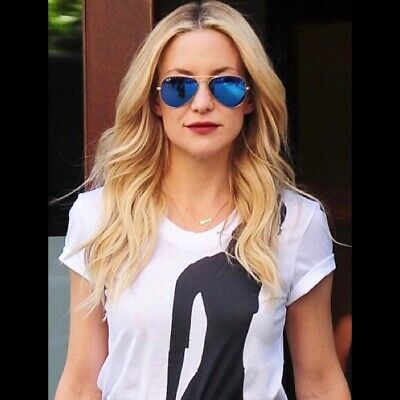Ray-Ban Unisex Women Aviator Sunglasses 🇺🇸 (Blue Sunglasses Women)