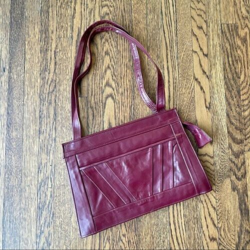 Vintage Leather Oxblood / Burgandy Handbag Purse