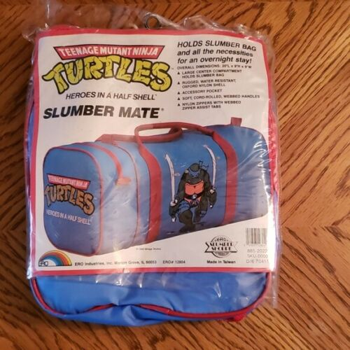 Vintage Slumber Mate Bag  Teenage Mutant Ninja Turtles Sealed NWOT