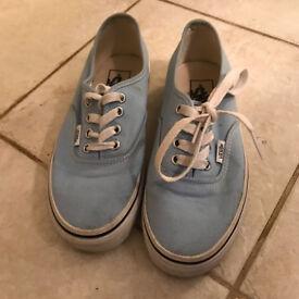 Baby blue vans size 5