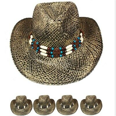 Shapeable Straw - COWBOY Western HAT Shapeable STRAW Cowgirl Cap Raffia MEN WOMEN