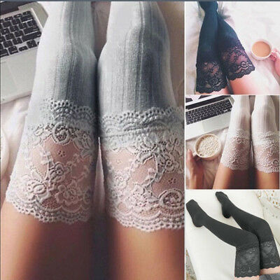 US Women Lady Winter Warm Over The Knee Thigh High Soft Socks Stockings Leggings