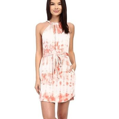 Gypsy05 Revolve Clothing Pink Tie Dye Halter Mini Dress Xs