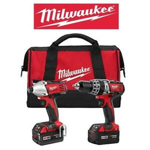 NEW MILWAUKEE DRILL/IMPACT DRIVER 2697-22 187888672 HAMMER CORDLESS M18 18V