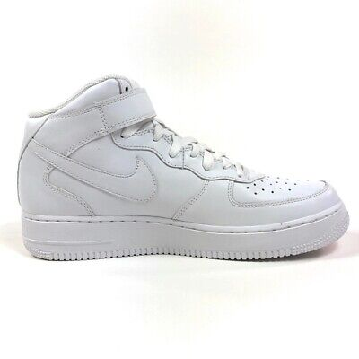 Nike Air Force 1 Mid (GS) Strap White/White Big Kids Shoes Size 5Y (314195113)