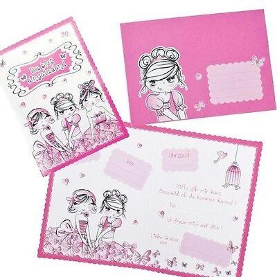 Geburtstag ~~ 8 Einladungskarten BFF Kindergeburtstag Mädchen Einladungen Party ()