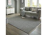 Beautiful Diamond Weave Rug 200cm x 290cm carpet for sale no reserve