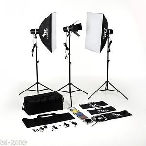 600Ws Studio Flash Kit Digital Photography Strobe Light
